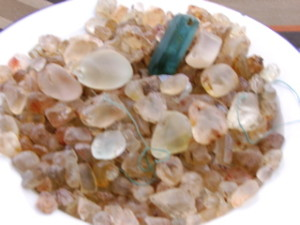 The aquamarine found by Daisy 1
